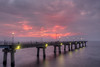 A few colors paint the sky after the sunset over the fishing pier at South Thimble Island along the Chesapeake Bay Bridge-Tunnel in Cape Charles, VA on Tuesday, August 18, 2015. Copyright 2015 Jason Barnette
