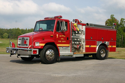 Fire 342 from Blairs, VA (Pittsylvania County) is this 1994 Freightliner 80/E-One 1250/1000.  Serial number 13915.