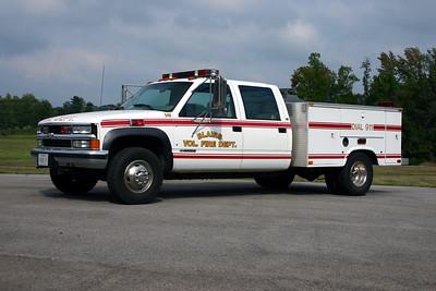 Blairs, Virginia Fire 349 is a 1997 Chevrolet Cheyenne/Knapheide.