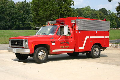 Fire 424 from Keeling, VA is a 1979 Chevrolet Custom Deluxe 30/1980 Baker/FD.  125/220.  Originally a C&P Telephone Truck.   Received from Ringgold, Va.