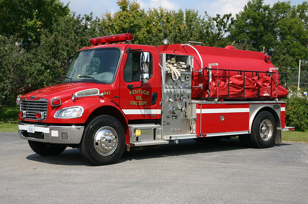 Kentuck, VA - Fire 247.  2003 Freightliner M2/Supervac/E-One with a 500/2000.  Serial number 3025-126958.