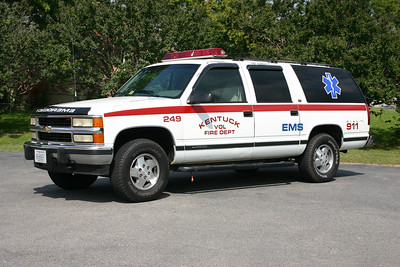 Fire 249 is a 1994 Chevrolet Suburban.  Kentuck, VA - Pittsylvania County.