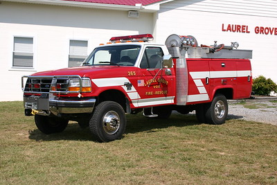 Laurel Grove, VA Fire 365 - a 1995 Ford Super Duty/Quigley/Slagles.  250 gwt.