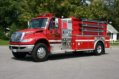 Fire 237 from Ringgold, VA is a 2008 International MaxxForce Dura Star/E-One with a 500/1800.  E-One serial number 133783.