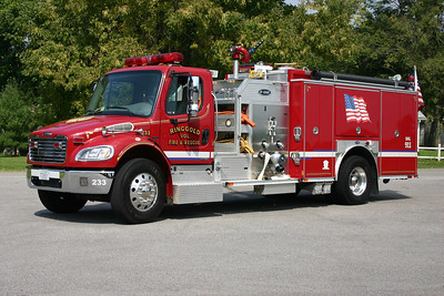 Fire 233 from Ringgold, VA is a 2004 Freightliner M2/E-One 1250/1000 and E-One serial number 128249.