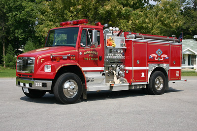 Ringgold, VA Fire 232, a 2002 Freighliner 70/E-One with a 1250/1000.  E-One serial number 125955.