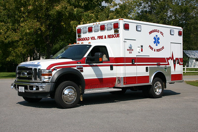 Rescue 233 from Ringgold is a 2007 Ford F450/2008 Wheeled Coach.