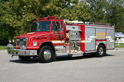 Ringgold, VA Fire 231 is a 2002 Freightliner 80/E-One with a 1250/1000 and E-One serial number 126013.