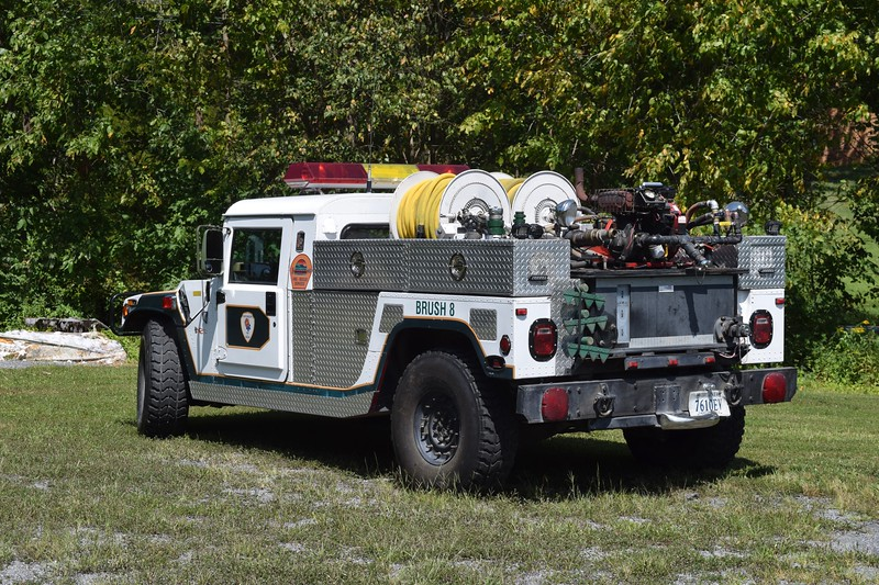 Brush 8 is this interesting 1996 Hummer/KME, 250/250 that was acquired from a department in Texas.