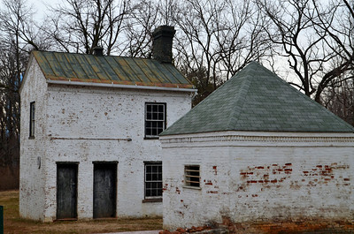 Outbuildings behind the home of Col. John S. Mosby