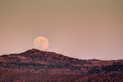 Supermoon on Whitetop Mountain, VA