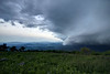 A heavy summer thunderstorm rolls through the valley beneath Whitetop Mountain, VA on Tuesday, June 10, 2014. Copyright 2014 Jason Barnette