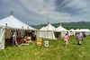 Visitors browse items for sale in the sutler shops during the 15th Annual Raid at Martin's Station at Wilderness Road State Park in Ewing, VA on Saturday, May 9, 2015. Copyright 2015 Jason Barnette