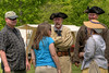 Reenactors chat with visitors during the 15th Annual Raid at Martin's Station at Wilderness Road State Park in Ewing, VA on Saturday, May 9, 2015. Copyright 2015 Jason Barnette