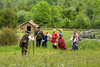 Reenactors portray a survey party outside the fort during the 15th Annual Raid at Martin's Station at Wilderness Road State Park in Ewing, VA on Saturday, May 9, 2015. Copyright 2015 Jason Barnette