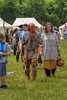 A Native American reenactor walks through the crowds around the sutler shops during the 15th Annual Raid at Martin's Station at Wilderness Road State Park in Ewing, VA on Saturday, May 9, 2015. Copyright 2015 Jason Barnette