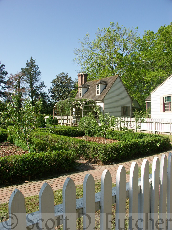 Bryan House Garden, Williamsburg, VA