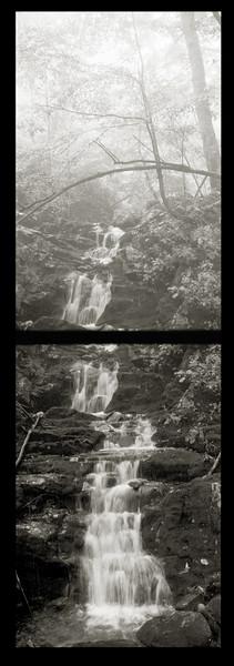 Waterfall vertical panorama