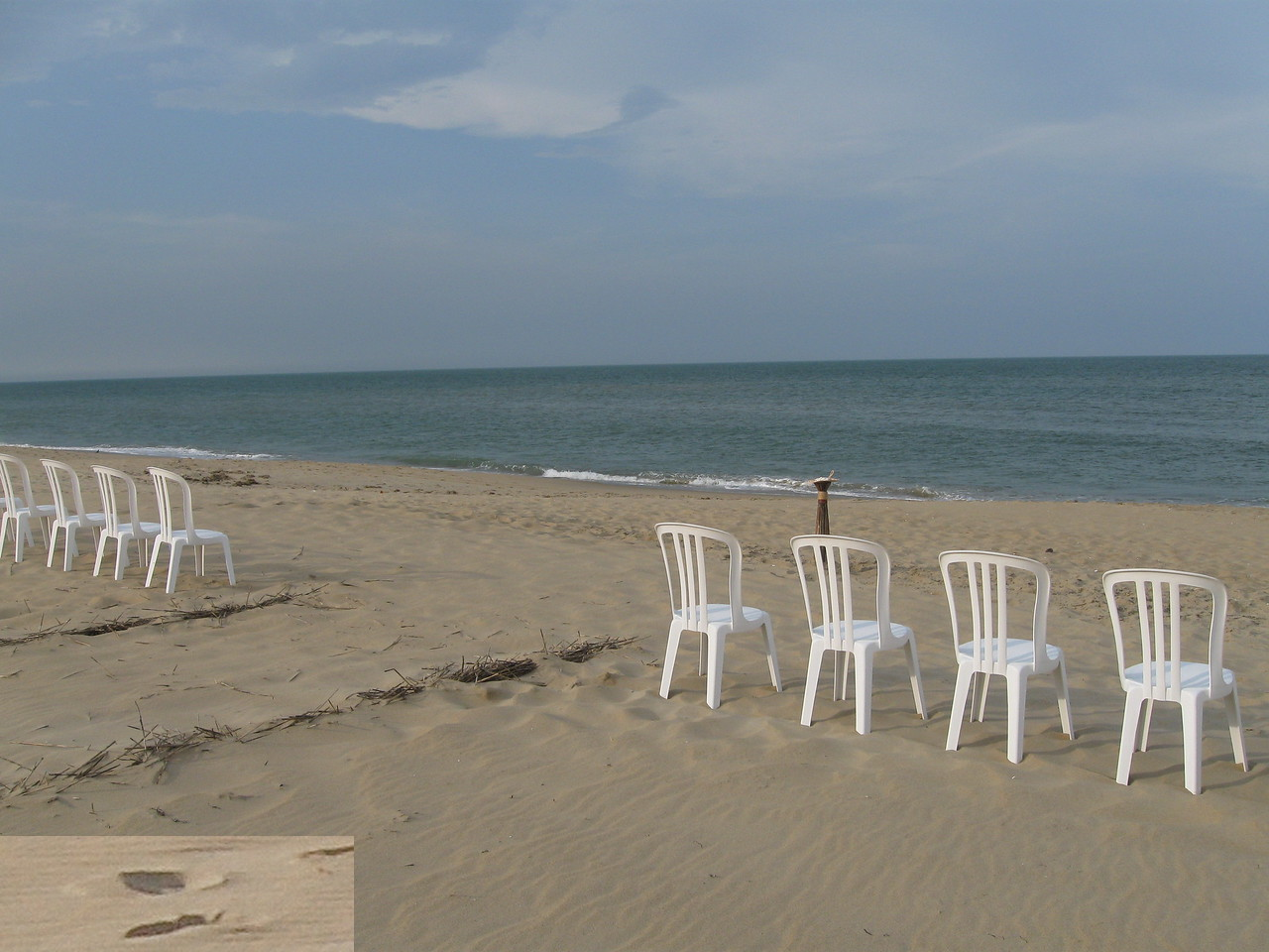 White Chairs at Sandbridge