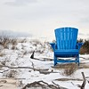 Blue Chair at Little Island Park