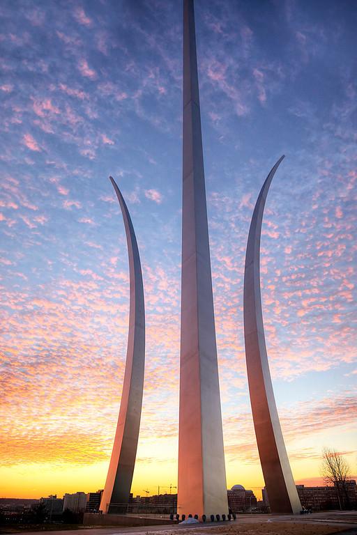 Air Force Memorial at Sunrise