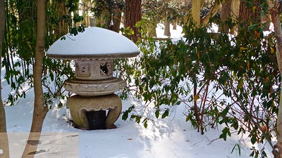 Red Wing Park Japanese Garden in Winter