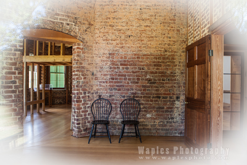 View inside Poplar Forest