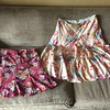 Old Navy floral zip skirt size 8<br /> Banana Republic silk floral watercolor skirt size 6