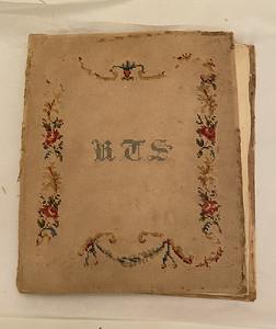 School girl's scrapbook of pressed flowers, 1852