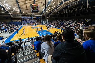 Men's basketball in the Freeman Center
