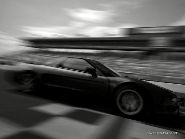 NSX in Infineon Drama - black and white
