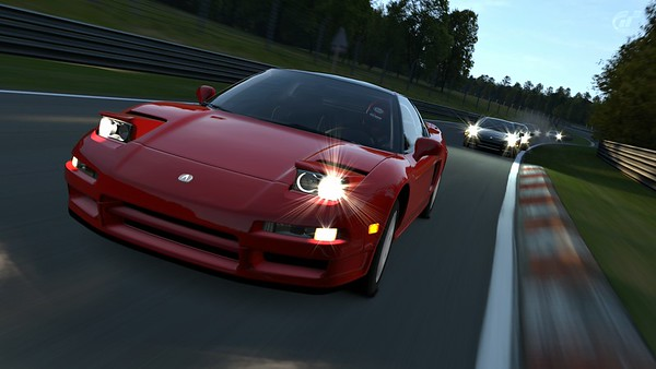 Sunrise at the Nurburgring Nordschleife with the NSX Club of Gran Turismo