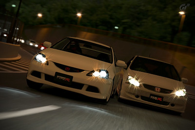 Premium Integra Type R overtaking Standard Civic Type R on Clubman Stage Route 5