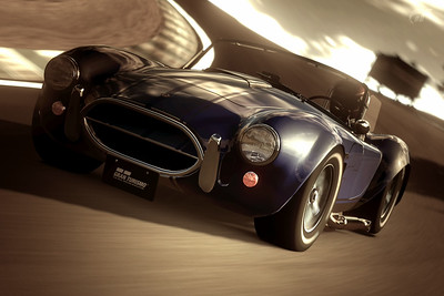 Premium Shelby Cobra 427 Chrome Line Edition at Laguna Seca