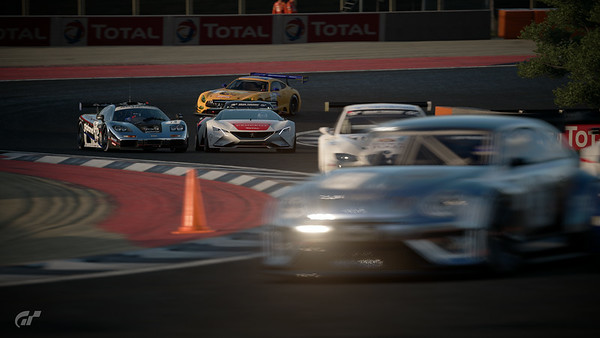 Another race, this time starting from 14th...overtook Peugeout VGT early on first lap, but he tries to cut me off