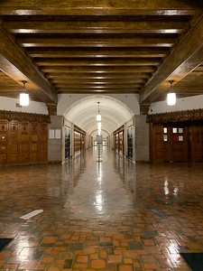 The main hallway in the Sterling Law Building