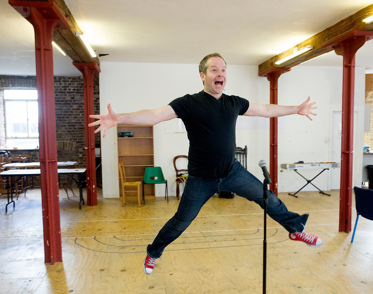 Rehearsal of Forbidden Broadway at the Menier Chocolate Factory