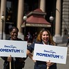 DocuSign hosts its Momentum 2016 summit at Union Square in San Francisco, California, on April 7, 2016. (Stan Olszewski/SOSKIphoto)