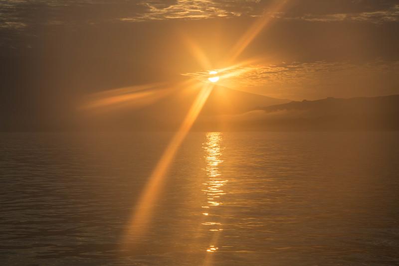 Sunrise over Isla Isabela