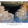 03 Sinagua Cliff Dwelling built on side of  Walnut Canyon