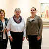 Jennifer Jones, Ellen DiGeronimo and Tamar Russell Brown stand in front of artwork for the upcoming show at Gallery Sitka called Visions of Fitchburg. The show will open with a reception on Saturday, November 12, from 2 to 4 p.m. SENTINEL & ENTERPRISE / Ashley Green
