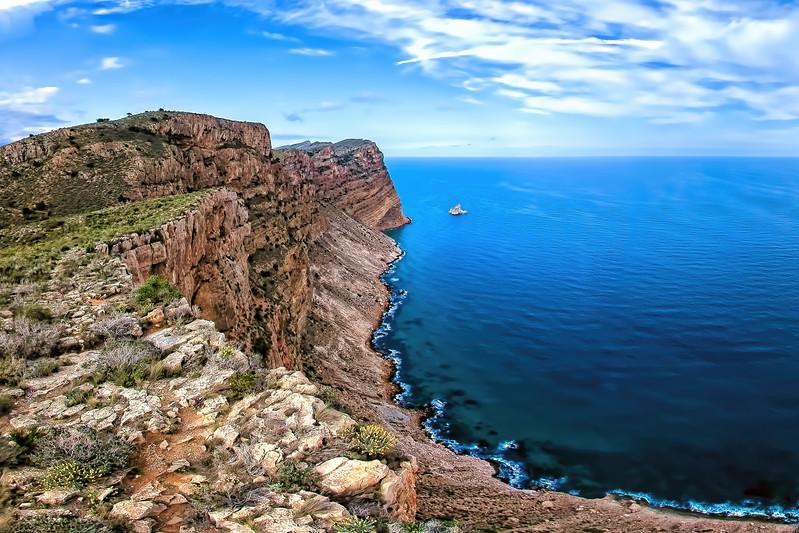 Mountain Cliffs from the Sierra Helada