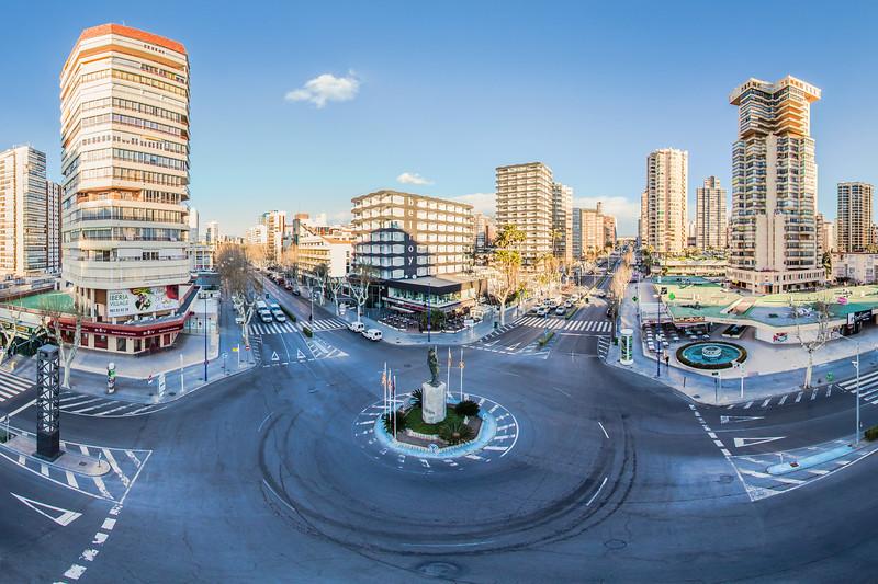 Roundabout Av. Mediterraneo, Benidorm