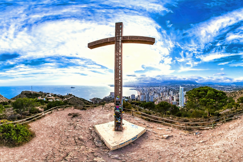 The Cross monument in Benidorm