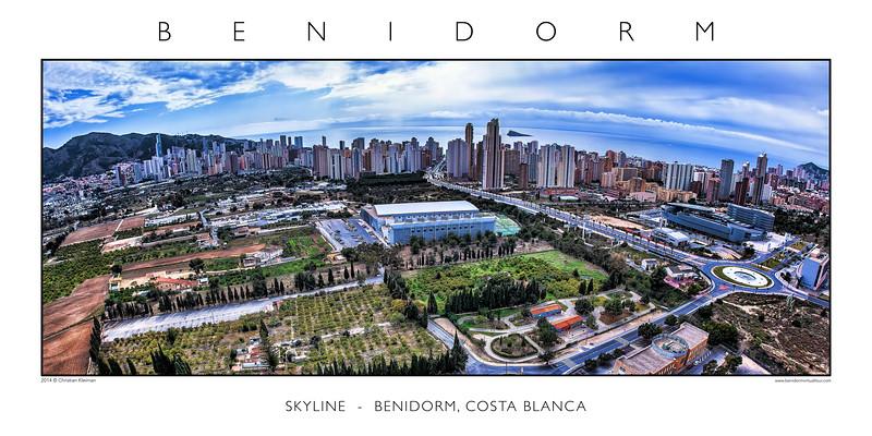 Benidorm Aerial Skyline