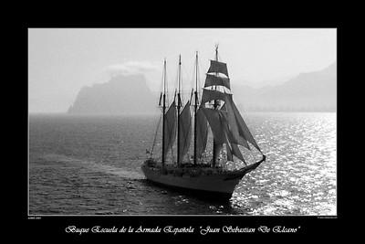 Fotografía Aérea - Posters Buque Armada Española