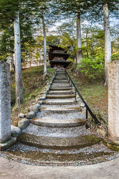 Stairway to Pagoda at Teisho-ji Buddhist Temple