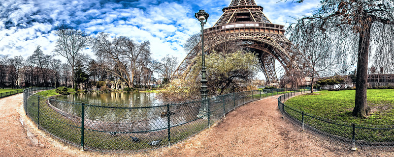 Lagoon ducks - (South-West Eiffel Tower pillars)