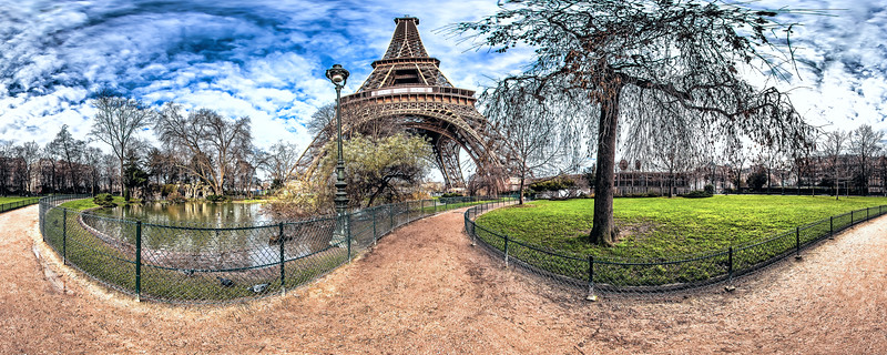 Lagoon ducks - (South-West Eiffel Tower pillars)