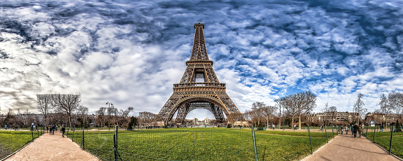 Eiffel Tower – (Champ de Mars Gardens)
